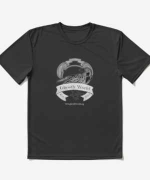 Ghostly World Rustic Logo – White with White Text Active T-Shirt