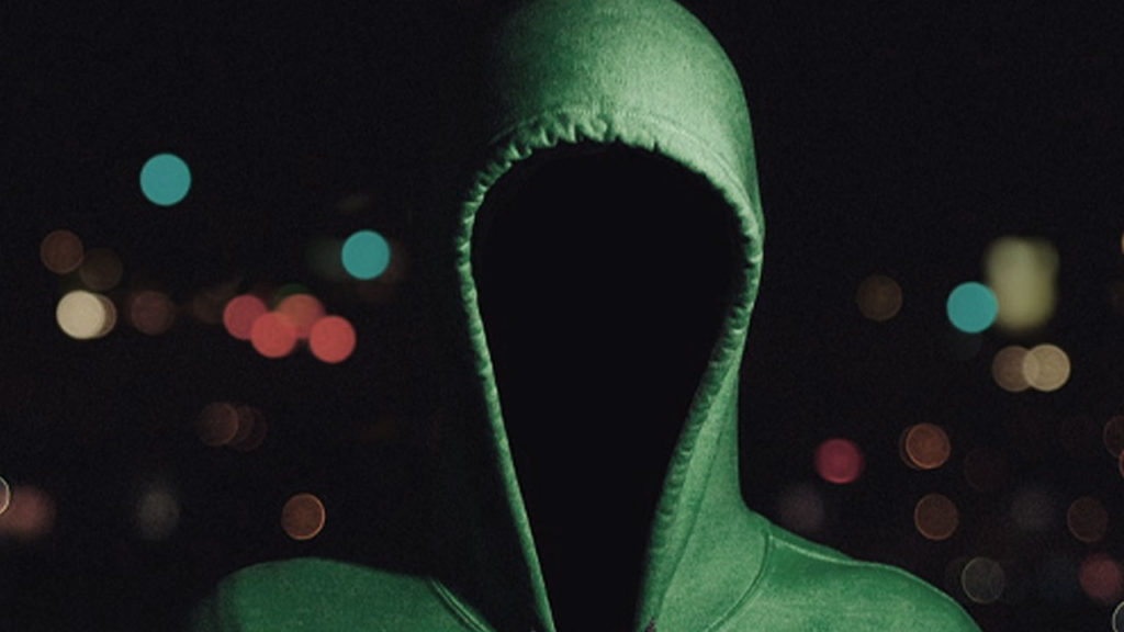 A mysterious figure in a hoodie.