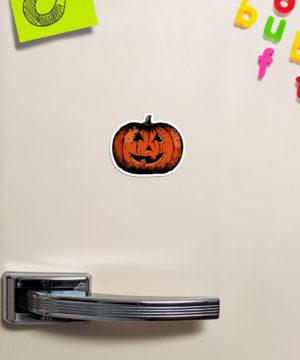 Vintage Happy Halloween Pumpkin Magnet