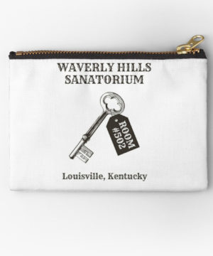 Waverly Hills Sanatorium Room 502 Zipper Pouch